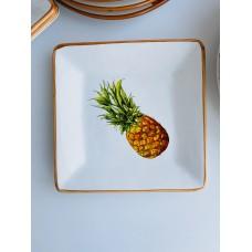 Тарелка квадратная Экзотик, 2 вида, 16см