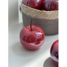 Декоративное яблоко 9.7см, цвет - клубничный перламутр