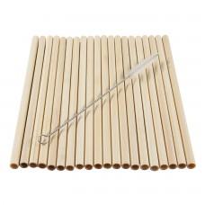 Набор Трубочки бамбуковое 20 шт с щеткой