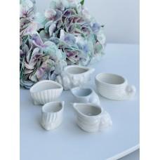 Набор керамический ракушки-кашпо 6шт