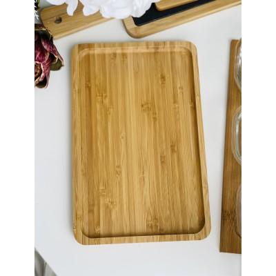 Блюдо бамбуковое прямоугольное 28*18см