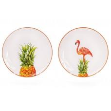 Тарелка круглая Экзотик, 2 вида, 20см