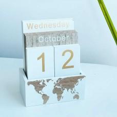 Вечный календарь Карта Мира 14,5 см
