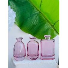 Стеклянная ваза Диор, розовая