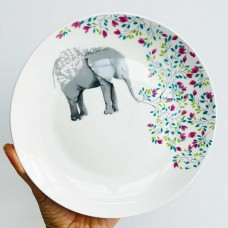 Тарілка фарфорова 21 см (слоник, жираф, лисичка)