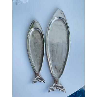 Блюдо алюминиевое в форме рыбы 42*12*2 см