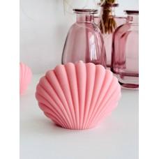 Свеча Ракушка, 6.5 см, розовая