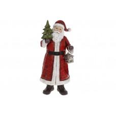 Декоративная статуэтка Санта Клаус, 25см, цвет - красный