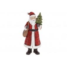 Декоративная статуэтка Санта Клаус, 19.5см, цвет - красный