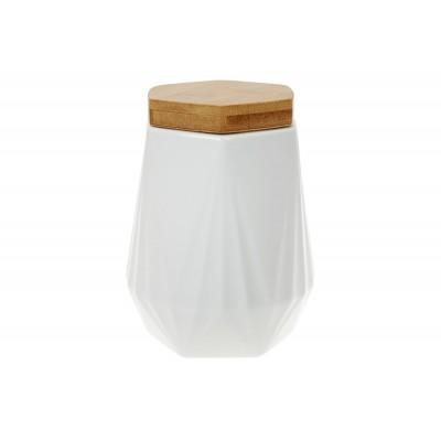 Банка 800мл для сыпучих продуктов Naturel с бамбуковой крышкой