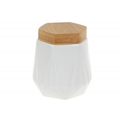 Банка 330мл для сыпучих продуктов Naturel с бамбуковой крышкой