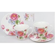 Кофейный набор 4пр.: 2 чашки 90мл + 2 блюдца