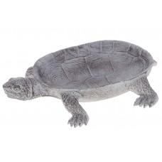 Декоративное блюдо Черепаха, 23см, цвет - серебро