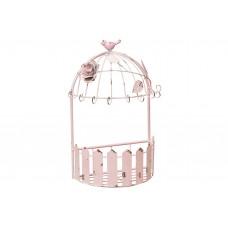 Подставка для цветов розовая металлическая (без декора) 27см
