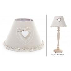 Абажур для лампы тканевый с декором Сердце