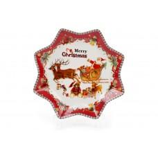 Тарелка фарфоровая С Рождеством! 20,5 см