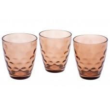 Набор стеклянных стаканов 350мл (3шт) коричневый