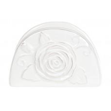 Салфетница керамическая Аэлита, цвет - белый, 13см