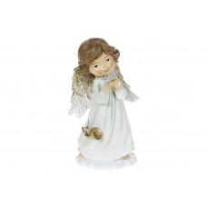 Декоративная статуэтка Ангелочек, 11см, цвет - нежно-зелёный