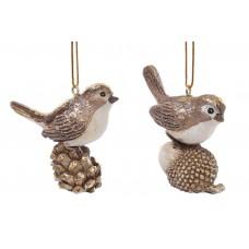 Декоративная подвесная фигурка Птичка 6см, 2 вида