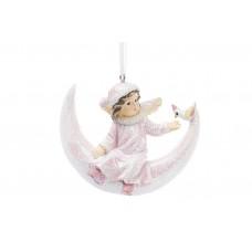 Декоративная подвесная фигурка Девочка на луне 8см