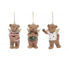 Декоративная статуэтка-подвеска Мишки-ангелочки 8см, 3 вида