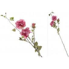Декоративная ветвь с розами, 90см