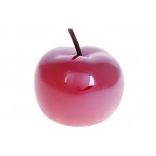 Декоративное яблоко 9.7см, цвет - темно-красный перламутр