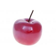 Декоративное яблоко 15.5см, цвет - темно-красный перламутр