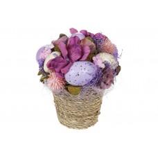 Декор пасхальный Букет, 15см, цвет - лаванда