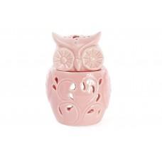 Арома-лампа Сова 10см, цвет - розовый