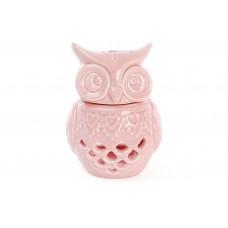 Арома-лампа Сова 12см, цвет - розовый