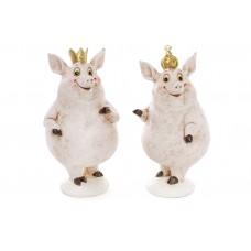 Декоративная фигурка Свинка 17см, 2 вида