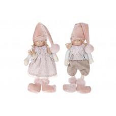 Мягкая игрушка Детки, 2 вида - мальчик и девочка, 22см, цвет - розовый