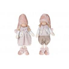 Мягкая игрушка Детки, 2 вида - мальчик и девочка, 43см, цвет - розовый