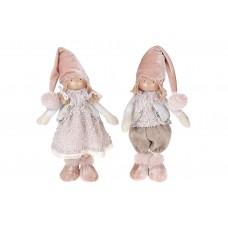 Мягкая игрушка Детки, 2 вида - мальчик и девочка, 35см, цвет - розовый