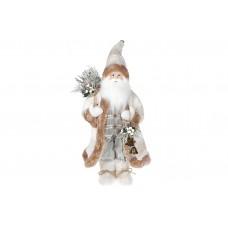 Мягкая игрушка Санта 46см, цвет - белый крем