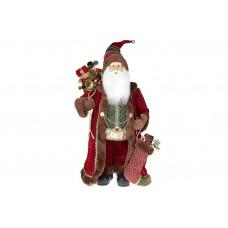 Мягкая игрушка Санта 60см, цвет - бордо с коричневым мехом