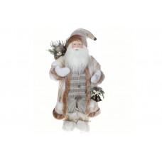 Мягкая игрушка Санта 60см, цвет - белый крем