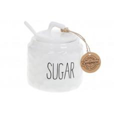 Сахарница керамическая c ложкой 470мл Bianco, цвет - белый
