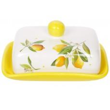 Масленка керамическая 17см Сочные лимоны