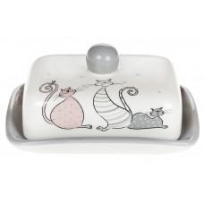 Масленка керамическая Веселая семейка, 17см