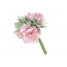 Декоративный букет из Пионов, 29см, цвет - нежно-розовый