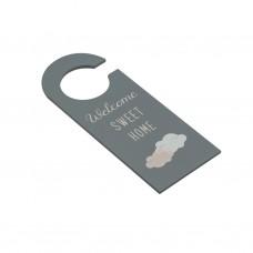 Дверная вешалка серая Cat МДФ 24см