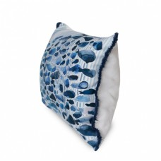 Наперник декор бело-голубой Кит 30*45 см