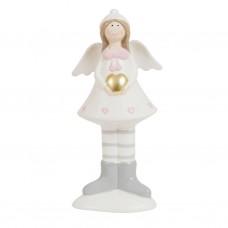 Девочка Ангел с сердцем 16см