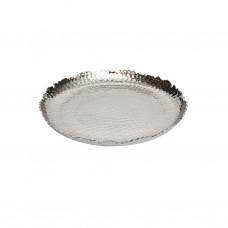 Блюдо чеканка алюминиевое 21см