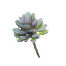 Цветок искусственный Суккулент эхеверия сизая 9см