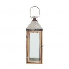 Лампа напольная с металлической крышей 50см