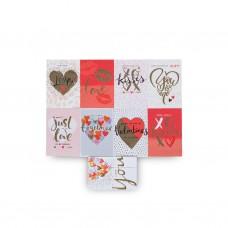 Открытка mini box Love с конвертом 9 видов 12см